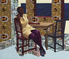 """I'm always trying to look for a visual equivalent of my experience.."" Njideka Akunyili Crosby, Nigerian born artist"