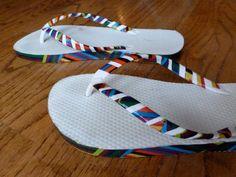 DIY Flip Flops Refashion: DIY Duct Tape Embellished Flip Flops
