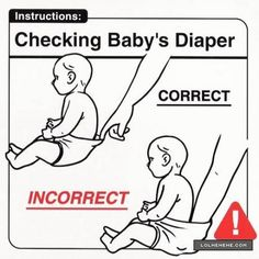 Checking Baby's Diaper ~ Note to self: must remember next time!