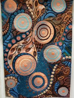 Quilt at PIQF -  play of colors and the design of this quilt I find inspirational.