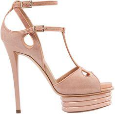 Roger VivierBibendumnude suede platform sandal | SS2013