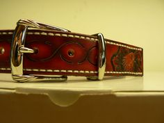 Tooled Leather Belt by AcrossLeather on Etsy, $165.00