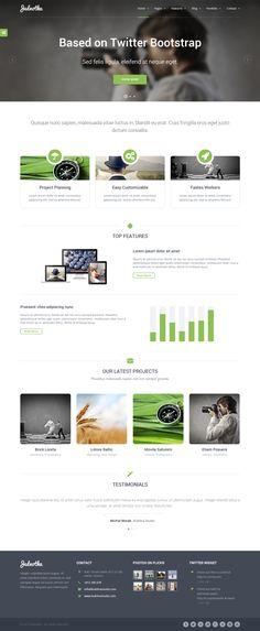 Jednotka Multi - Purpose WordPress by WordPress Design Awards , via Behance