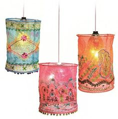 Love, love, love, love, LOVE!!! Sometimes you see stuff you could design an entire room around, and these Karma Living  lamp shades on The ...