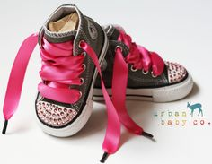 Hey, I found this really awesome Etsy listing at https://www.etsy.com/listing/196394195/infant-toddler-baby-girl-hi-top-gray