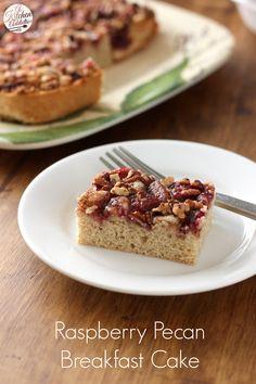 Raspberry Pecan Breakfast Cake l www.a-kitchen-addiction.com