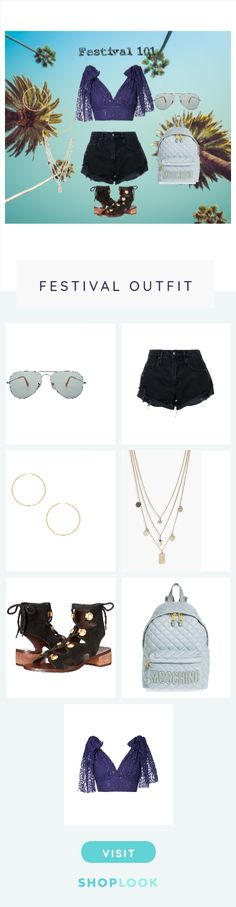 An example of what to wear to a festival. For example, coachella or any music festival. Discover outfit ideas for made with the shoplook outfit maker. How to wear ideas for Boho Short Pistol and Studded Logo Quilted Nylon Nobody Denim, See By Chloe, Moschino, Boohoo, Ray Bans, Create, Polyvore, Outfits, Shopping