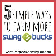 The holidays are right around the corner....Are you using Swagbucks to earn free gift cards?  It is super easy to earn rewards just for doing things you already do online, such as searching the web!  Be sure to check out these 5 simple tips to earn more rewards in less time!