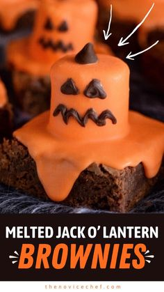 Halloween Desserts, Easy Halloween, Halloween Treats, Halloween Party, Drink Recipe Book, Orange Candy, Fudgy Brownies, Candy Melts, Unsweetened Cocoa