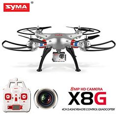 Syma X8G Headless 2.4Ghz 4CH RC Quadcopter with 8MP HD Ca...