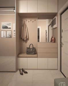 These 4 Living Room Trends for 2019 – Modells. Home Hall Design, Home Interior Design, House Design, Wardrobe Door Designs, Wardrobe Doors, Foyer Storage, Entrance Hall Decor, Open Plan Kitchen Living Room, Small Home Offices
