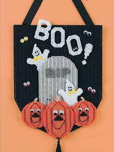 Plastic Canvas - Holiday & Seasonal Patterns - Halloween Patterns - Goblin Greetings