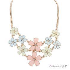 Statement Kette / Collier Flower Summer Sorbet pastell...