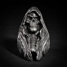 "This is ""Reaper"" a ring based on lead free pewter that made by Fourspeed Metalwerks, a top class brand that have worked with well-known musicians, artists and professional athletes."