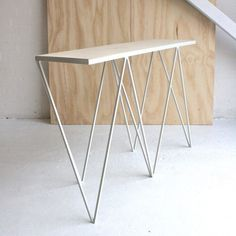 &New Giraffe console table, OSB/white | &New Giraffe | Tables | Furniture | Finnish Design Shop