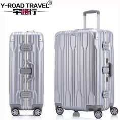 16799b689b45 20 24 26 28  Aluminum Frame Spinner luggage Carry on cabin TSA Scratch  Resistant Travel trolley Rolling luggage suitcase wheels-in Carry-Ons from  Luggage ...