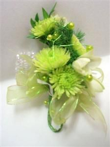 button mums | Button Mum Wrist Corsage in Belleville ON - Live, Love and Laugh ...