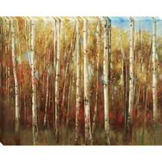 """38""""H x 30""""W Birch Forest Framed Wall Art Lowes.  Master BR"""