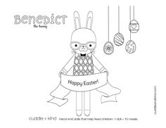 cuddle+kind benedict the bunny colouring sheet. www.cuddleandkind.com Easter Coloring Pages, Coloring Sheets For Kids, Coloring Pages For Kids, Coloring Books, Kids Colouring, Colouring Sheets, Cute Kids Crafts, Holiday Crafts For Kids, Crafts For Boys