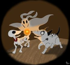 Tim Burton's Dogs by ToonSkribblez.deviantart.com on @deviantART