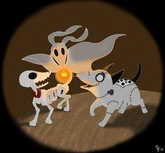Tim Burton's Dogs by ToonSkribblez.deviantart.com on @deviantART