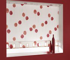 Red and cream poppy blinds http://www.martinsblindsandawnings.co.uk/blinds-northampton/roller-blinds/