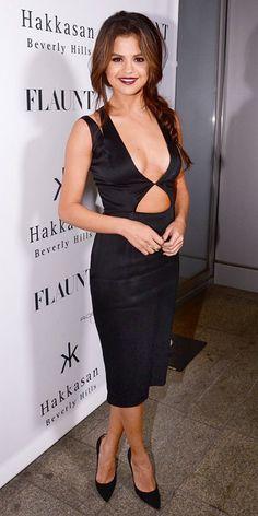 Selena gomez en la fiesta de la revista #FlauntMagazine