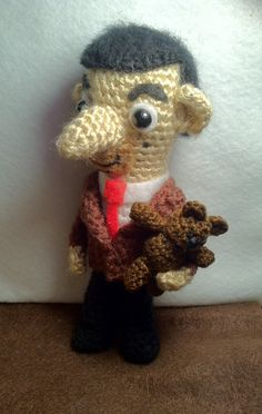 Amigurumi Mr Bean & Teddy