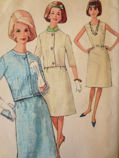 Vintage Simplicity 4779 Sewing Pattern, 1960s Dress Pattern, A Line, Jackie O Style, Bust 36, Jacket, 1960s Sewing Pattern, Vintage Sewing