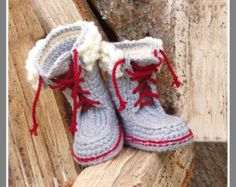 Ribbed Slipper Pocket Socks  Crochet Pattern  Instant
