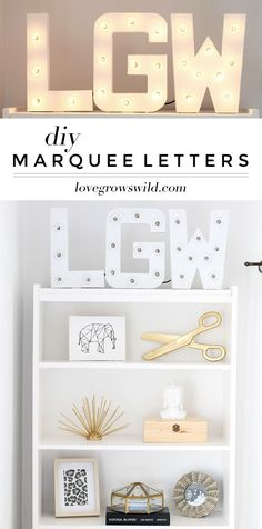 Step-by-step instructions to create gorgeous DIY Marquee Letters for your home! Click for details at LoveGrowsWild.com