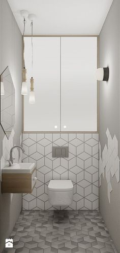 Space Saving Toilet Design for Small Bathroom - Home to Z - Bathroom Ideas Modern Bathroom Tile, Bathroom Tile Designs, Bathroom Design Luxury, Tiny House Bathroom, Bathroom Toilets, Modern Bathroom Design, Bathroom Flooring, Bathroom Ideas, Bathroom Small