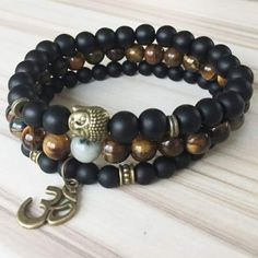 Enhance your self-confidence and empower yourself to face difficult circumstances with this Black Tourmaline and Tiger Eye Bracelet Set. Black Tourmaline Jewelry, Tourmaline Gemstone, Bracelets For Men, Beaded Bracelets, Necklaces, Stone Bracelet, Bracelet Set, Tiger Eye Bracelet, Plexus Products