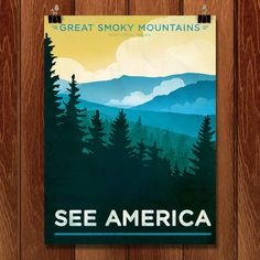 Great Smoky Mountains National Park Print  See America Travel art