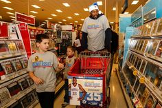Kevin Durant of the Oklahoma City Thunder takes this young man from Sunbeam Family Services' Grandparents Raising Grandchildren on a holiday shopping spree!