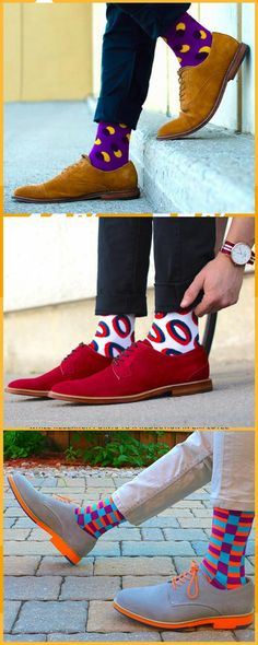 We design crazy socks for men and women. New cool socks launching every month. Designed to be the best socks you've ever worn. High quality funny socks designed to get compliments. New Mens Fashion, Mens Fashion Shoes, Fashion Socks, Fashion 101, Fashion Trends, Funky Socks, Colorful Socks, Crazy Socks For Men, Happy Socks