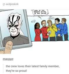 The Enterprise crew loves their latest family member, they're so proud