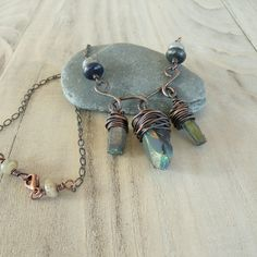 RESERVED for Mel Mystic Quartz Crystal Necklace by GypsyIntent