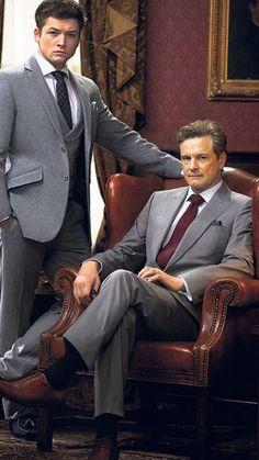"Taron Egerton and Colin Firth, ""Kingsman: The Secret Service"" Colin Firth, Taron Egerton Kingsman, Kingsman The Secret Service, Kings Man, Herren Outfit, Celebs, Celebrities, Beautiful Men, Actors & Actresses"