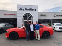 Congratulations and Best Wishes JEREMY AND STACEY on the purchase of your 2018 Dodge Charger!  We sincerely appreciate your business, Jay Hatfield CDJR and Dustin Johnson.