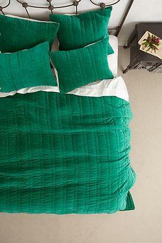 Stitched Velvet Bedding #anthropologie