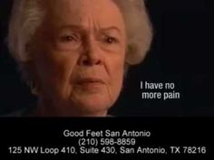 "Interesting & Informative YouTube Video from Good Feet San Antonio customers on heel pain relief from arch supports. ""I swear by my Good Feet arch supports"" Good Feet San Antonio has 25 styles of arch supports in more than 350 sizes and levels of rigidity/softness to fit in any shoe in your closet! Many plantar fasciitis sufferers have found the pain relief they so needed with San Antonio Good Feet arch supports."