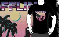 'Funny Offline Aesthetic Vaporwave Japanese Tee For Introverts' T-Shirt by handcraftline Vaporwave, Introvert, Most Beautiful Pictures, Chiffon Tops, Classic T Shirts, Told You So, One Piece, Canvas Prints, Japanese