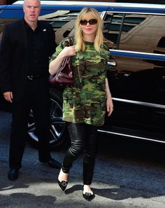 Courtney Love at Yeezy Spring 2016 Ready-to-Wear