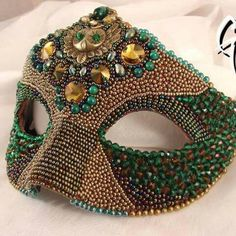 Bead embroidery mask