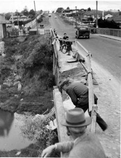 1950 Damage to Bell Street Merri Creek Bridge 1950 Damage to Bell Street Merri Creek Bridge Melbourne Victoria, Victoria Australia, Melbourne Suburbs, Broken Promises, Historic Houses, Historical Pictures, Back In The Day, Vintage Photography, Buses