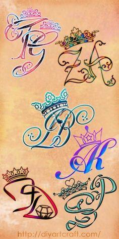 Poster 6 #monogram #crown #tattoo