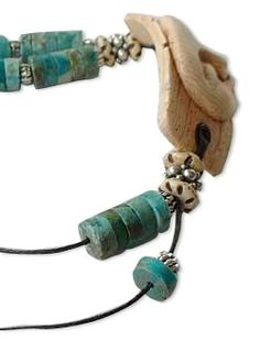 how to make faux ivory and turquoise earrings and bracelet by Kim Cavender via Fire Mountain. #polymer clay #jewelry #tutorial