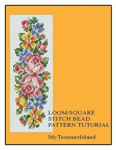For sale is the Floral Vertical Stripe Bell Pull Bracelet Pattern in PDF format.    For this design I used Miyuki Delica seed beads in size 11.