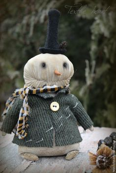 Купить Снеговик - тёмно-зелёный, снеговик, снеговики, снеговики игрушки, снеговичок, зима, зимняя сказка